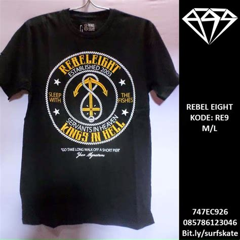Kaos Baju Nike R T surf skate tees rebel eight