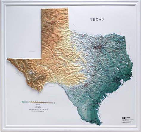 elevation map texas raised relief maps 3d topographic map us state series