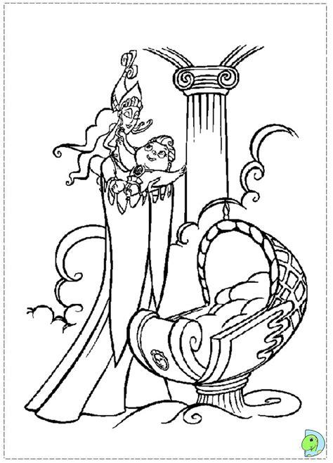 hercules coloring page dinokids org