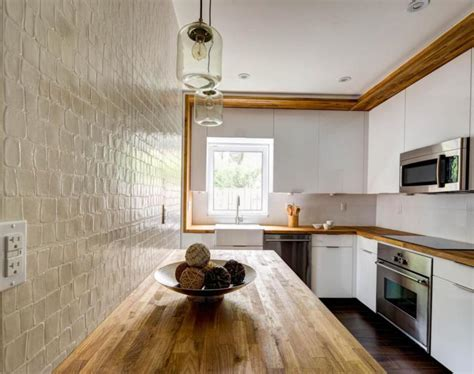 encimeras de cocina de madera cocina blanca encimera madera veinticuatro dise 241 os