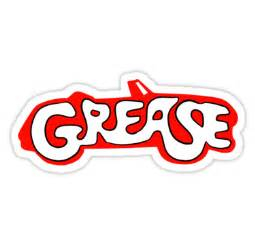 Greased Lightning Car Stickers Quot Grease Logo Quot Stickers By Natsreksio Redbubble