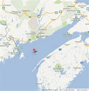 map of bay of fundy world easy guides