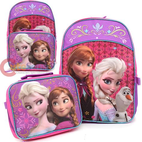 Deerde Ransel Canvass Frozen Blue Pink disney frozen elsa large backpack detachable lunch