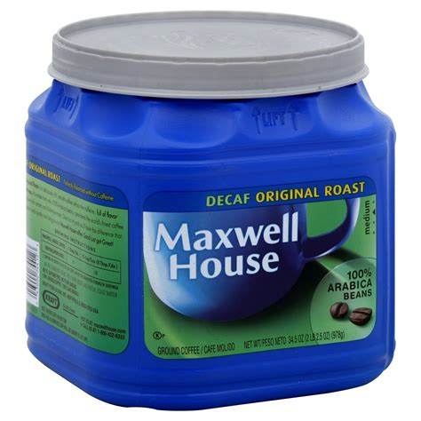 maxwell house coffee review maxwell house ground coffee decaf original roast 33 oz