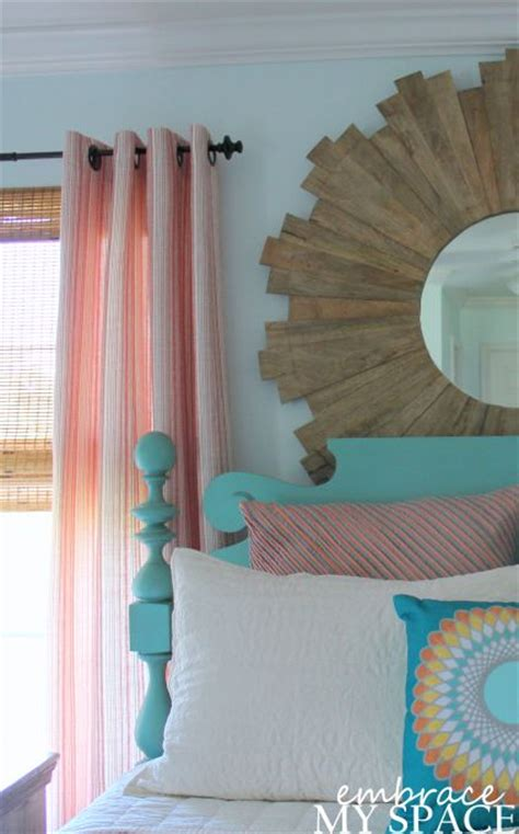 peach and turquoise bedroom embrace my space master bedroom peach coral and teal for bedroom love