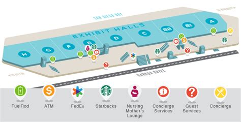 san diego convention center map attendee amenities convenience is key at the san diego
