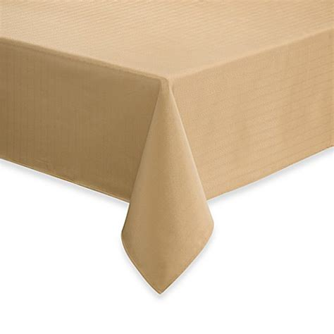bed bath and beyond tablecloth buy windsor stain resistant 90 inch round tablecloth in