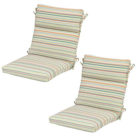 Striped Dining Chair Cushions Hton Bay Rigby Stripe Outdoor Dining Chair Cushion 2 Pack 7718 02225000 The Home Depot