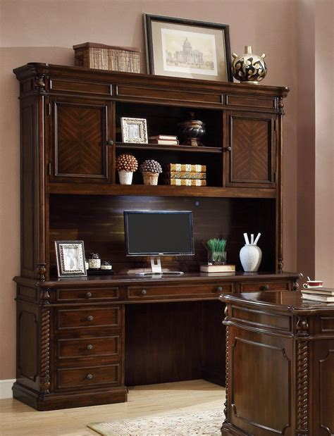 Computer Desk With Hutch And Drawers Computer Desk And Hutch With Center Keyboard Drawer