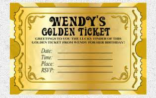 Golden Ticket Invitation Template by 301 Moved Permanently