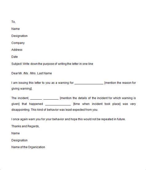 sample warning letter documents word