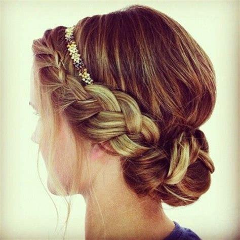 hairband style braid boho updo braid wedding hair pretty formal boho braid updo