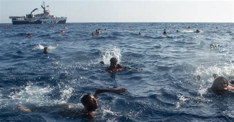 refugee boat video 34 casualties reported after refugee boat capsizes in