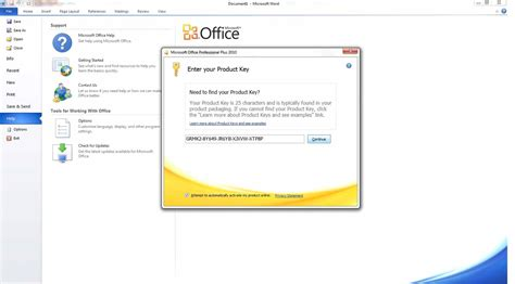 Microsoft Office Activation Key by How To Permanently Activate The Ms Office Professional