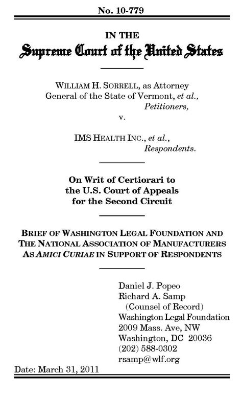 Supreme Court Brief Briefformat April 2011 The Wlf Pulse