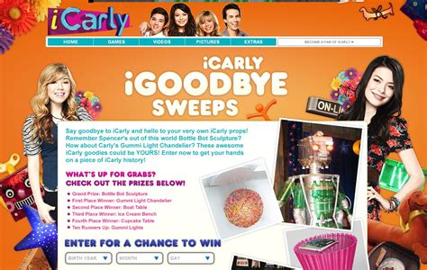 I Win Sweepstakes Icarly - icarly s igoodbye sweepstakes