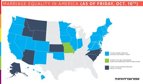 marriage map west virginia and nevada join the rapidly growing list of marriage equality states thinkprogress