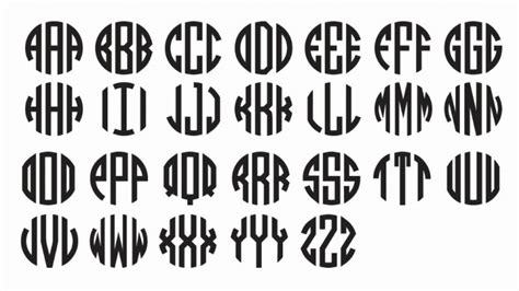 Wedding Font Dl by 10 Circle Monogram Font Free Images Vinyl