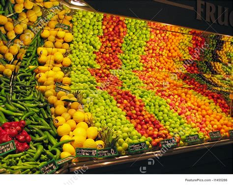 h mart vegetables display of fruits and vegetables in a supermarket photo