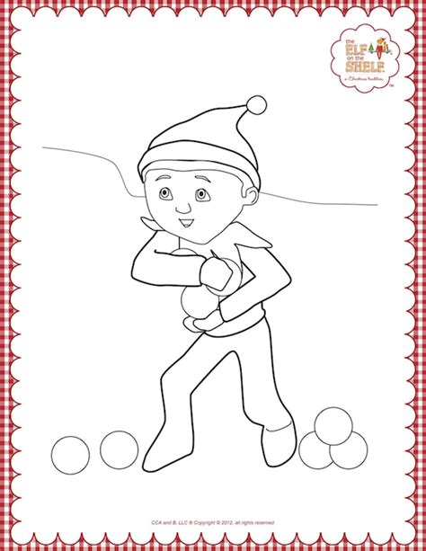 elf size coloring page girl scout brownie elf coloring pages for adults free