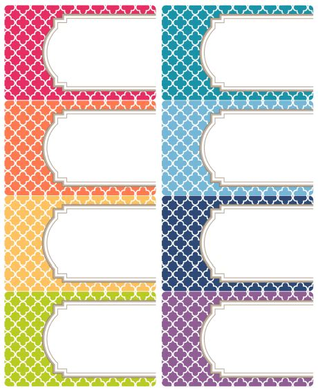 printable notebook labels free editable quatrefoil labels pdf organizations and free