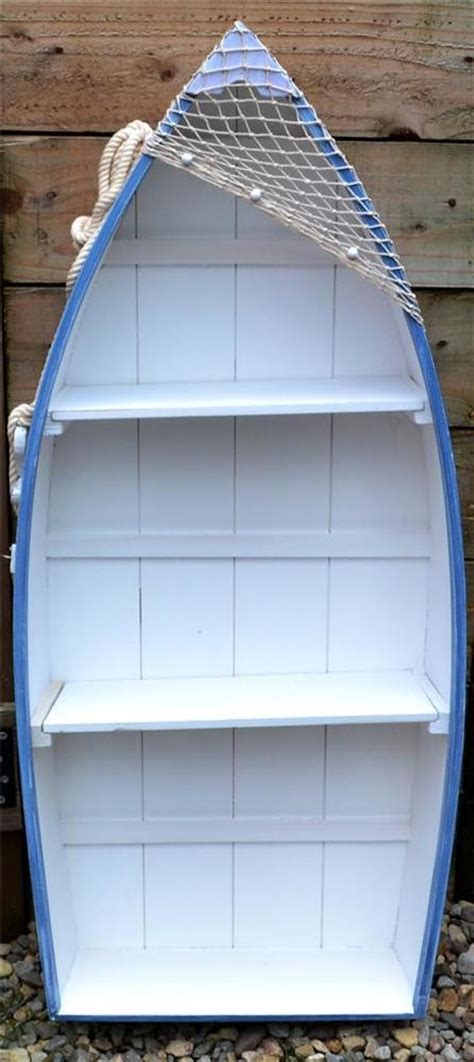 Starting A Home Decor Business by 91cm Wooden Blue Amp White Rowing Boat Shelves Bookcase