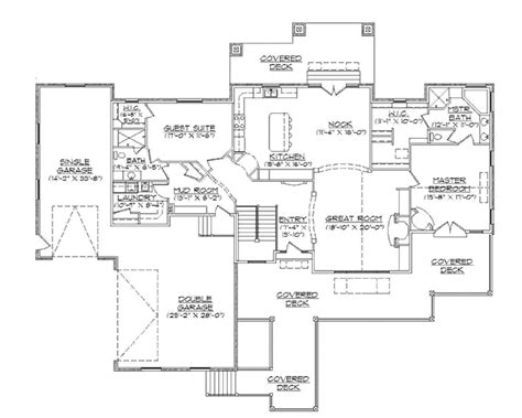 Dual Master Bedroom Floor Plans craftsman style house plan 2 beds 2 baths 2334 sq ft