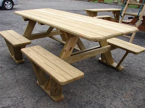 wooden bench and table 21 wooden picnic tables plans and instructions guide