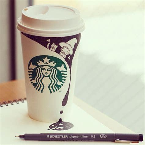 starbucks coffee cup doodle とっても素敵な世界観 スタバのカップを利用した可愛いイラスト topick