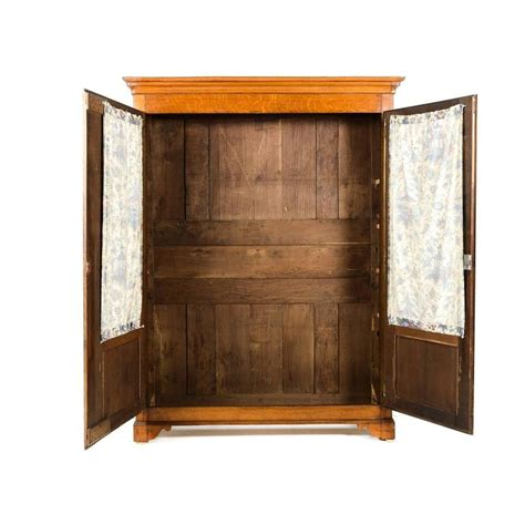 solid oak armoire 19th century french solid oak two door armoire circa 1870 for sale at 1stdibs