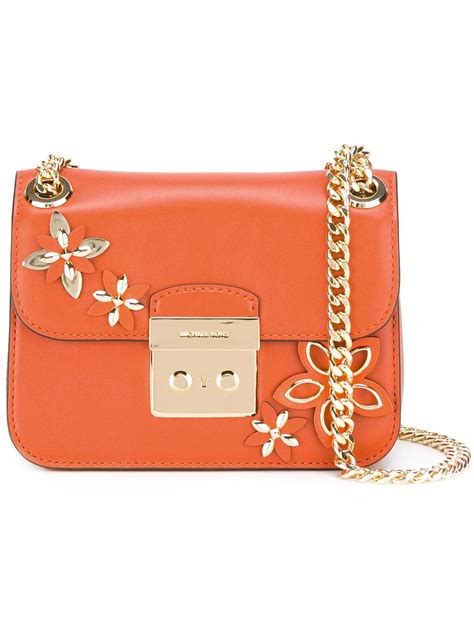 New Motif Michael Kors Specchio Shopping Tote 4in1 michael michael kors floral motif shoulder bag in orange lyst