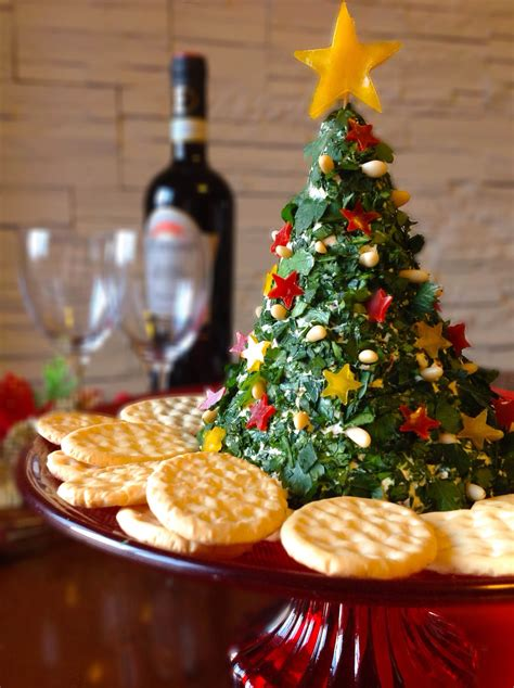christmas tree cheese ball cheese tree senza g