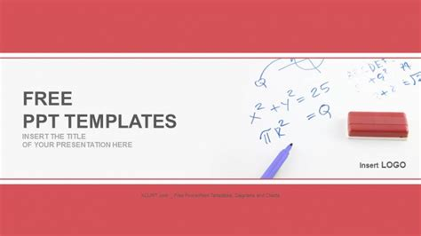 mathematics formula on board education ppt templates