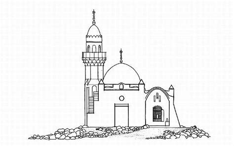 Mosque Drawing by Corniche Mosque B W Drawing Elevation Archnet