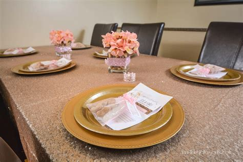 table decorations for a baby shower pink and gold princess elephant baby shower ideas