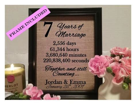 7 Years of marriage 7th wedding anniversary seven years of