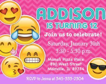 Emoji Invitations Emoji Invite Tie Dye Tween Teen Cell Phone Birthday Invitation Cellphone Emoji Birthday Card Template