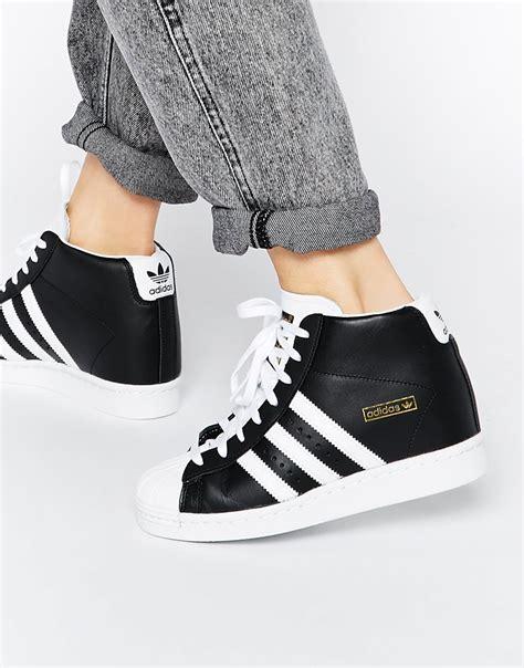 Adidas Superstar High adidas originals superstar concealed wedge black high top