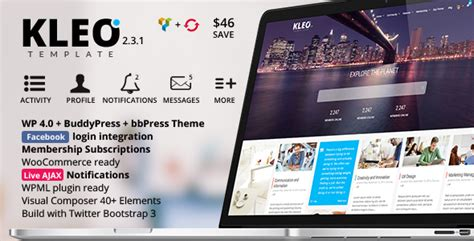 themeforest money back wordpress kleo next level premium wordpress theme