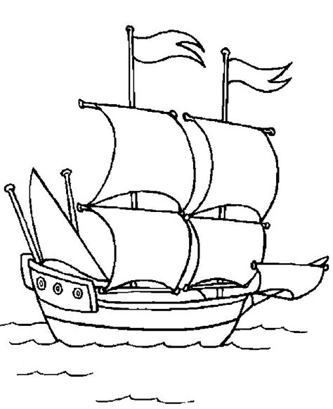 los barcos de cristobal colon para colorear dibujos para colorear barcos de velas transportes