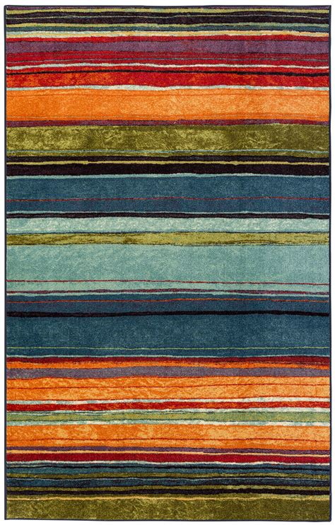 Mohawk Throw Rugs by Mohawk Home Rainbow 5 X 8 Large Area Rug Ebay