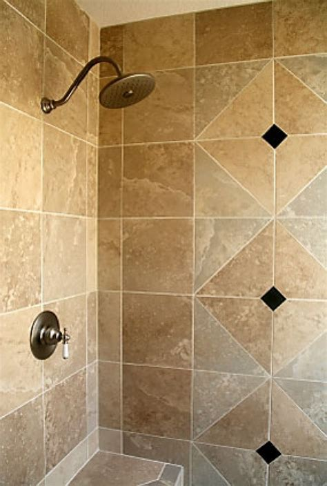 shower designs here s a travertine tile shower wit - Shower Tile Designs