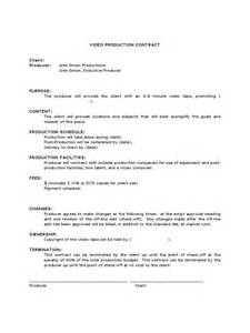 Co Production Agreement Template video production contract 6 free templates in pdf word