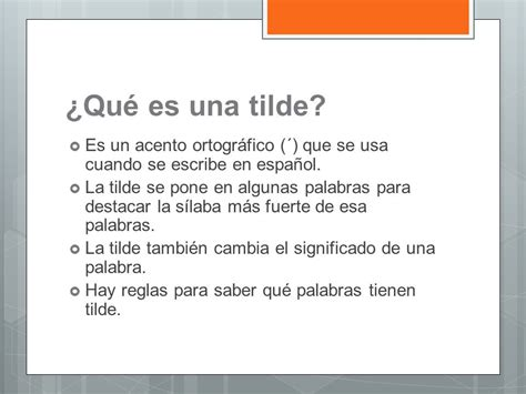 q es pattern en español usos del tilde