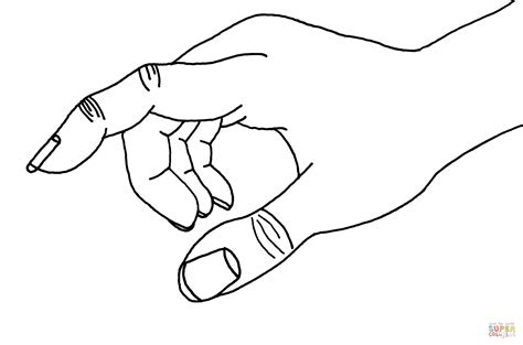 pointing hand coloring pages