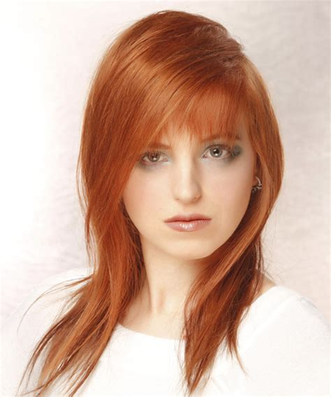 whats the name for hair color light on top and dark underneath long straight casual hairstyle with asymmetrical bangs