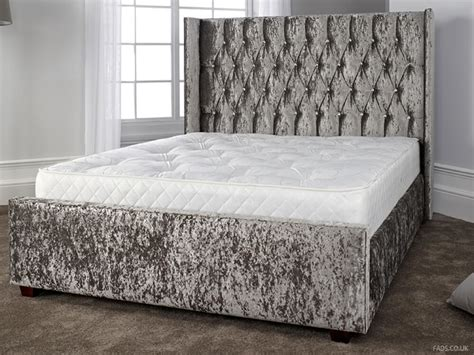 headboards australia gabriella silver crushed velvet bed frame free delivery