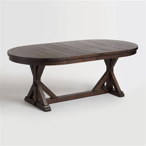 rustic wood dining table rustic brown oval wood brooklynn extension dining table