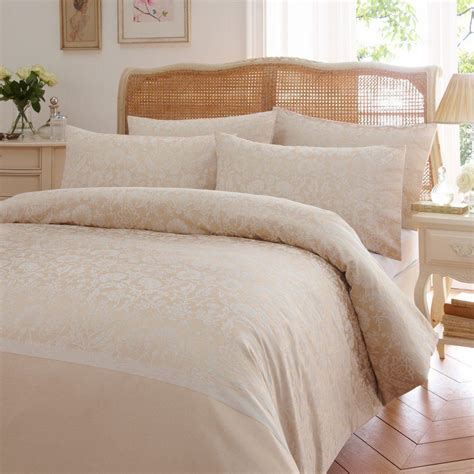 cream and gold bedding wisely damask floral flowers jacquard gold cream duvet cover quilt bedding set