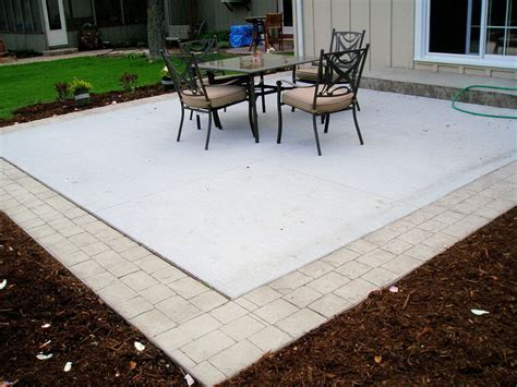 concrete pavers patio patio with concrete pavers types of patios concord